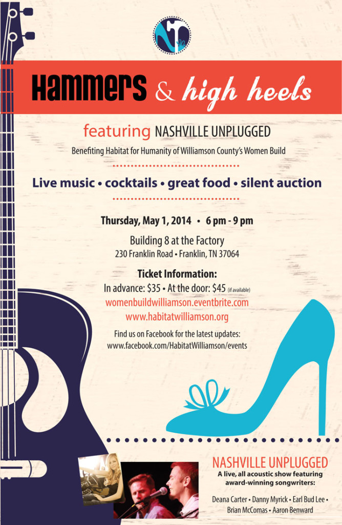 Hammers and High Heels Women Build Fundraiser featuring Nashville Unplugged