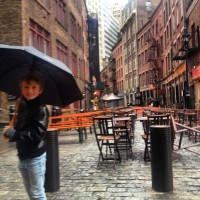 Historic Stone St. for some lunch after our rainy Liberty tour!