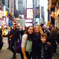 Meeting our friend , Alex, at Times Square